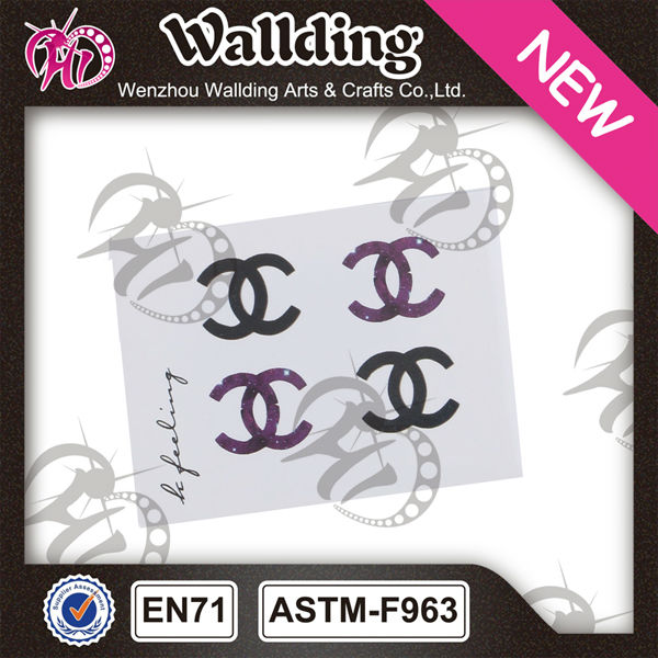 wholesale fashion glitter belly tattoo stickers