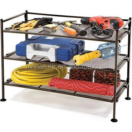3-Tier Iron Shoe Utility Rack and storage shelf