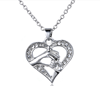 Wholesale 2016 New arrival Heart Shaped Necklace Diamond Locket for Mothers Day gift for mother necklace
