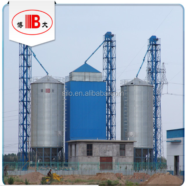 Hopper bottom galvanized grain steel silos selling on competive price