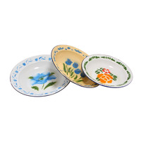 dinnerware custom logo enamel rice plates 22cm high quality enamel plate dishes