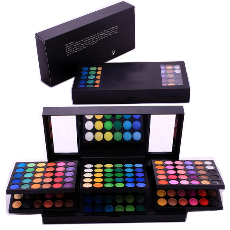 Private label makeup eye shadow 180 color cosmetic eye shadow palette