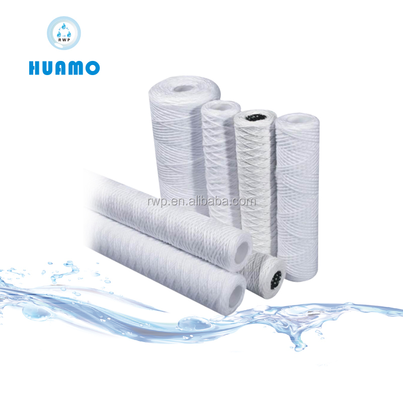 Filter supplier 40 inch 5 micron pp yarn chemicals filter cartridge/string wound filter cartridge