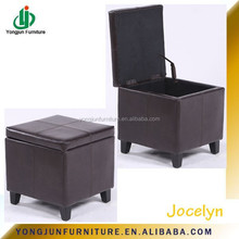 Modern Furniture Leather Square Cube Footstool / Ottoman