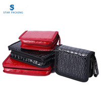 PU Leather Jewelry Packaging Portable Travel Bag with Zip