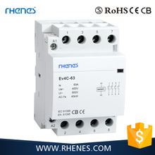 3M Din Rail 2 pole 4 pole AC 230V circuit contactor/electrical contactor/types of ac magnetic contactor