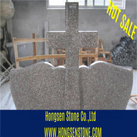 Hungary Style European Style Blue Pearl & G664 Granite Tombstone
