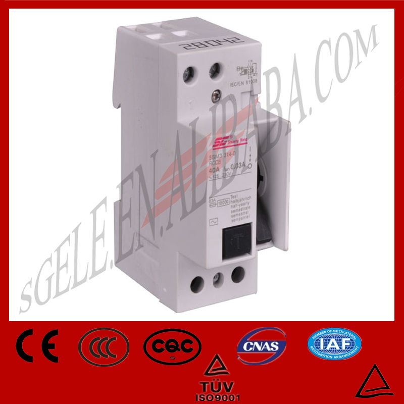 6A10A16A25A32A40A50A63A80amp SG2M3 5sm3 Series elcb breaker rcb earth leakage circuit breaker elcb switch rccb current rating