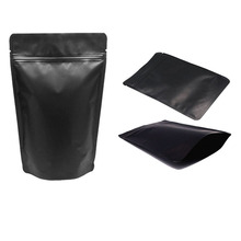 Matte Black Aluminum Foil Stand Up Zipper Pouches Storage Bags for Food Herb Coffee