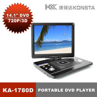 2012 NEW 15 inch Portable DVD Player with TV tuner FM VGA USB SD Game KA-1780D