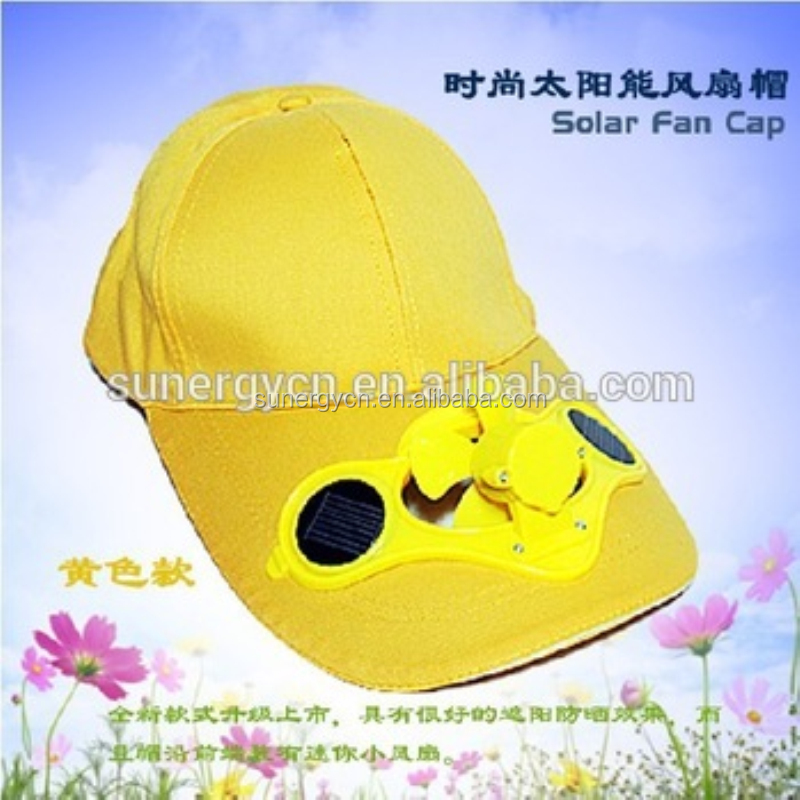 100% cotton solar cap with fan hats caps outdoor baseball sports caps
