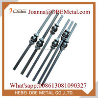 "Cheap Satin Black Stair 1/2"" Hollow Steel Tube Iron Spindles Wholesale"