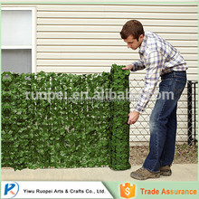 High quality artificial fence and hedge with leaf for landscaping