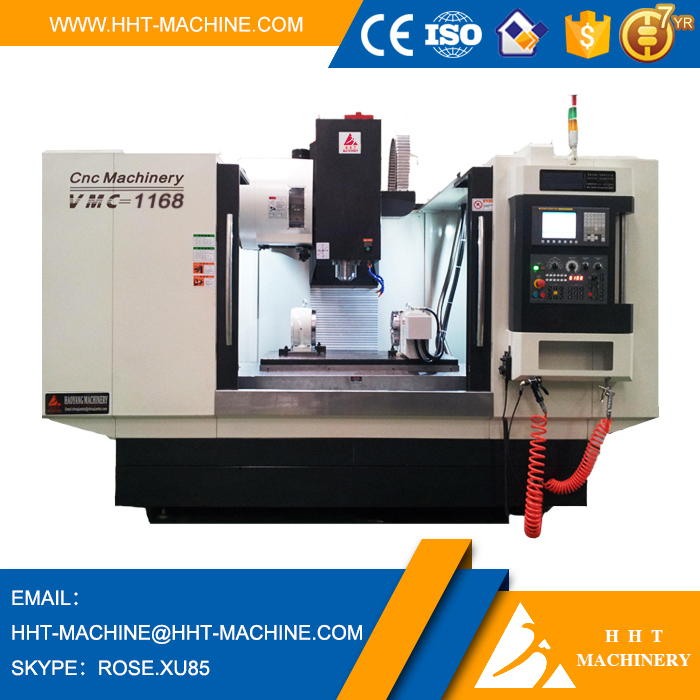 VMC-1168 Specification of Vertical Metal Milling Machine