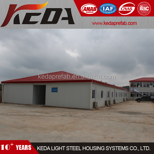 Steel Prefabricated Temporary Site Office Building House with Full Glass 5479