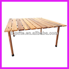 Portable Outdoor Foldable Wooden Picnic Table/Collapsible Rolling Table for Picnic/Camping