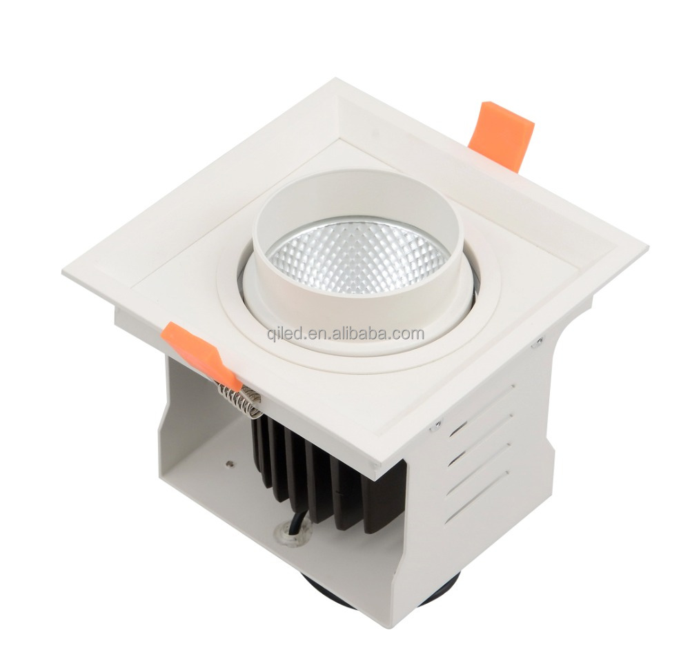 QiLED SAA/CE/RoHs/CCC COB LED Adjustable Grille Downlight Single Head Used in Shopping mall, Exhibition place, Conference Room