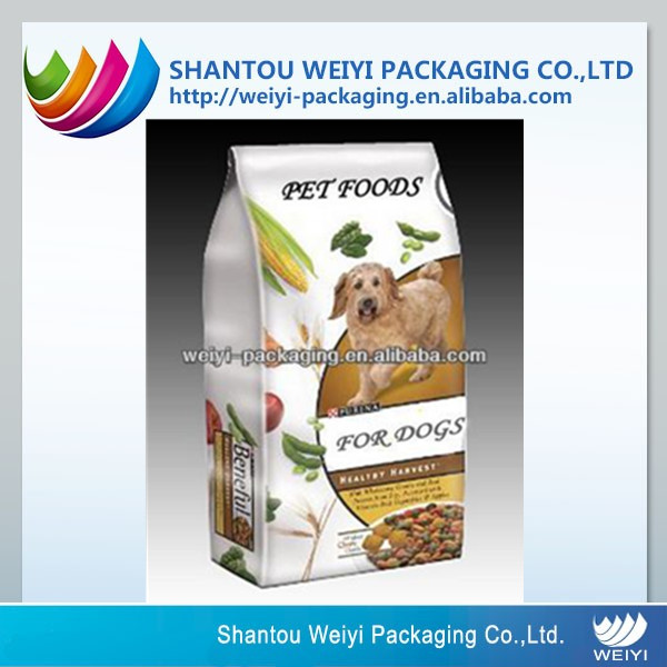 pet products plastic packaging company for big dog food bag