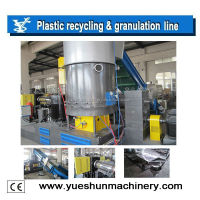 Waste printed plastic BOPP film recycling granulation machine