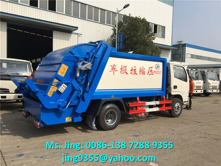 High quality 5 cbm 4*2 garbage compactor truck rubbish compactor hot sale in Peru