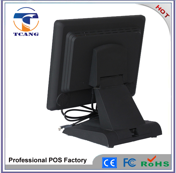 15 inch touch screen monitor true flat touch water proof and dusty proof hihg quality pos monitor