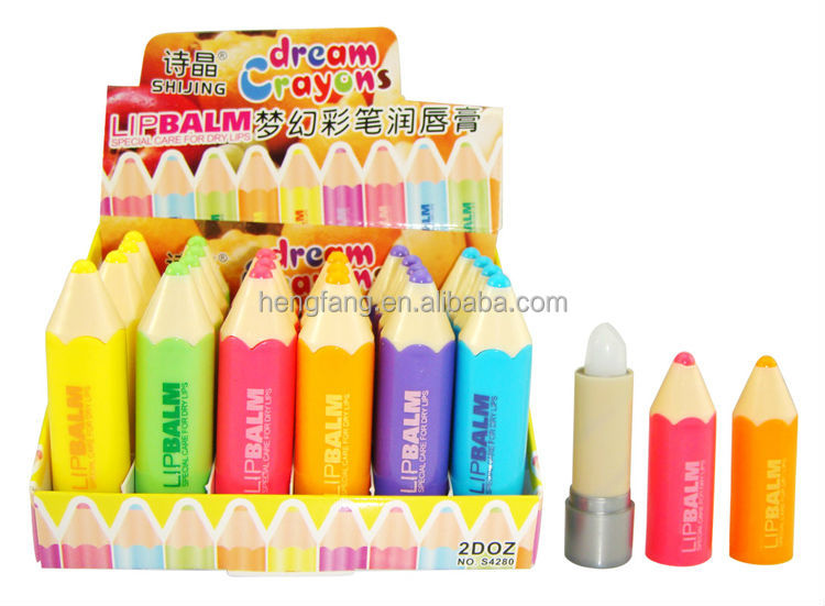 Hot selling made in china pen shape lip balm