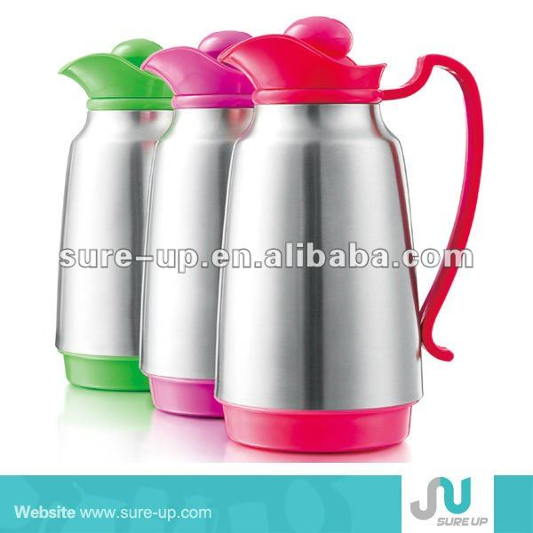 1.0 liter glass stainless steel vacuum hip flask