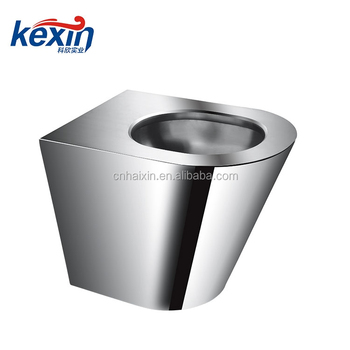 Front Access, On-Floor, Wall Waste, Blowout Jet Stainless Steel Replacement Security Toilet