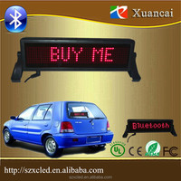 9-32Volt Bluetooth+USB+Remote control wireless small led car sticker rear glass window LED sustom LED car lights signs