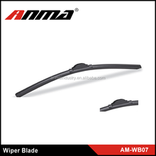 Universal colored car windshield flamless wiper blade with soft silicone rubber strip refill in all size