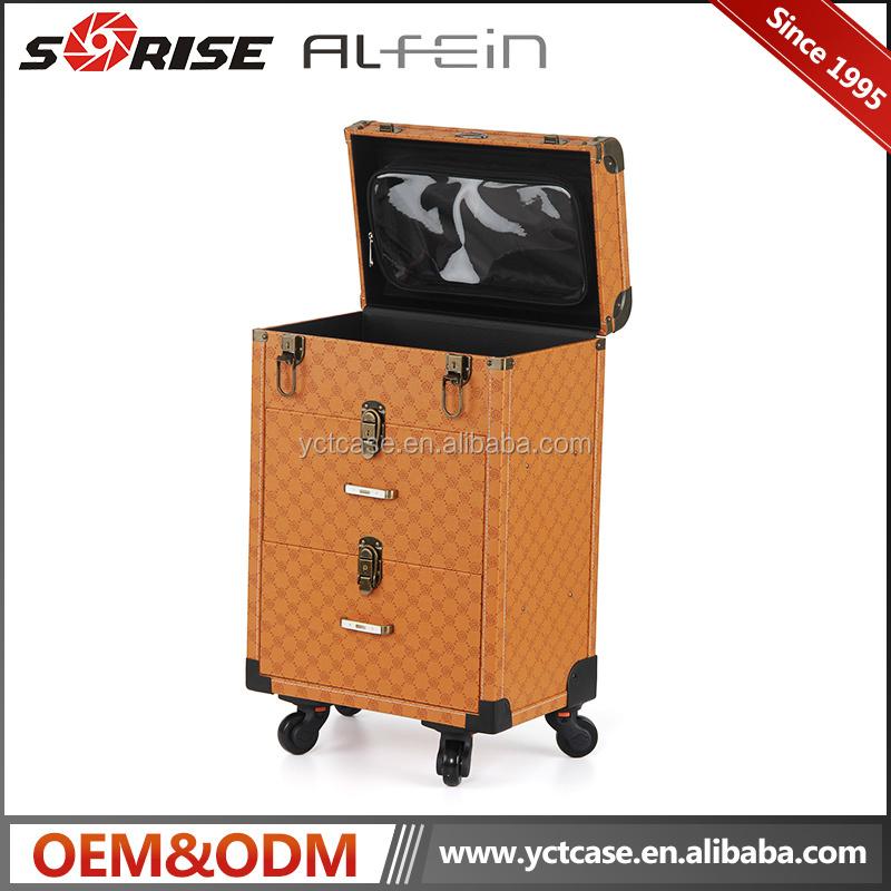 Professional Custom Design PVC Trolley Makeup case from China Cases Factory