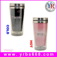 16oz Coffee Double Wall Stainless Steel Color Changing Travel Mug