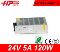Factory price CE RoHS constant voltage single output regulated 5a 120w led driver ac/dc switch 24v smps power supply circuit