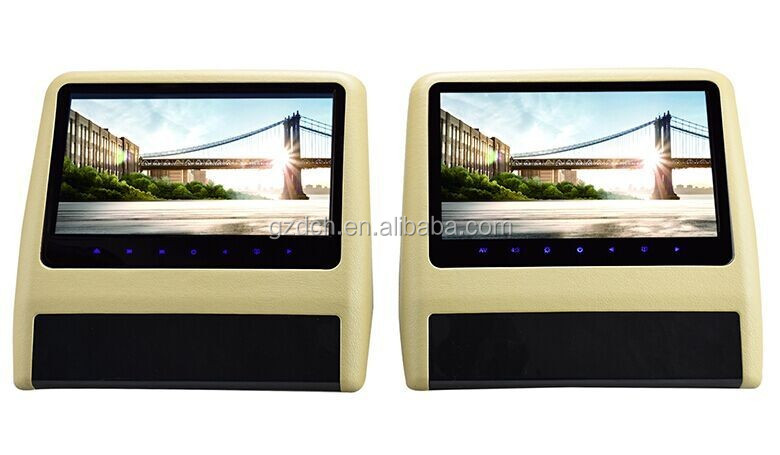"2016 new items 9"" headrest car dvd player USB/SD game function WS-9119"