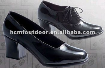 Shiny glossy black Clarino use for Miliatry and Army shoes