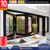 Folding glass windows with German hardware of 10 years warranty and folding doors