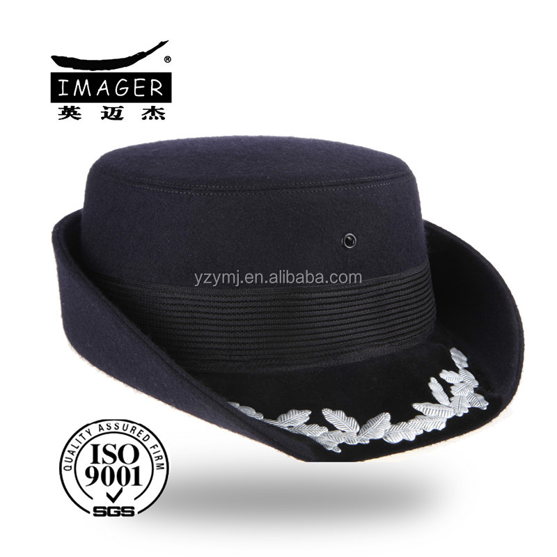 New Pattern Embroidery Jewish Hat with Elastic Band