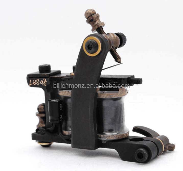 Hot sale pure copper carved cut line makeup rotary tattoo machine motors gun