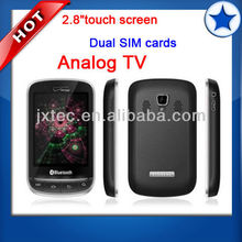 2013 factory price TV mobile phone Quad Band dual sim cellular Phone Q3860