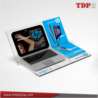 advertising portable laptop clear acrylic computer monitor stand