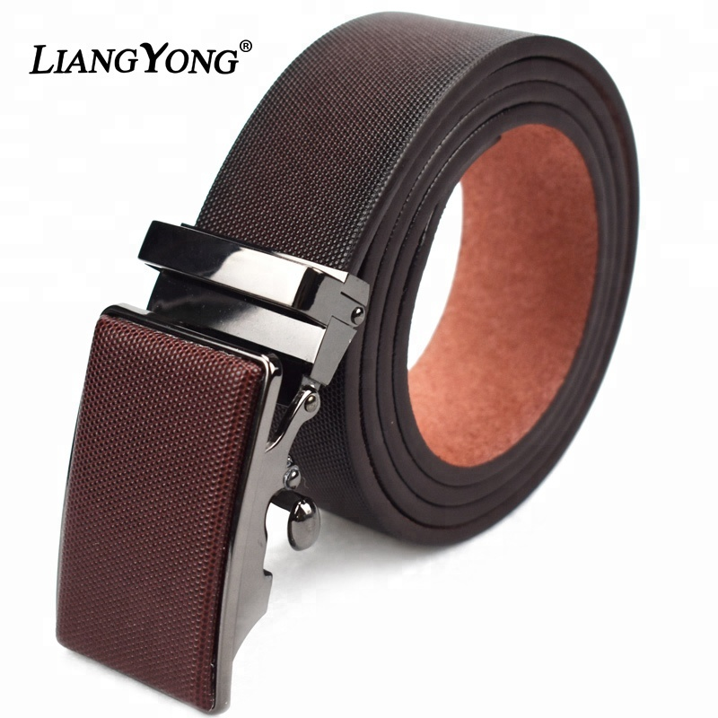 Men Automatic Buckle Genuine Leather <strong>Belt</strong> Wholesale Custom Fashion Ratchet Luxury High Quality Best <strong>Belt</strong> Brand For Men