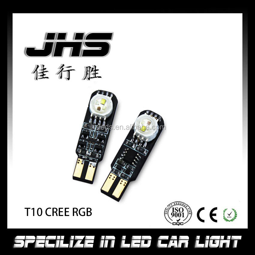 T10 RGB C ree Color Changing LED Car Light automotive led lamp t10 smart led with 18 patterns colorful and flash