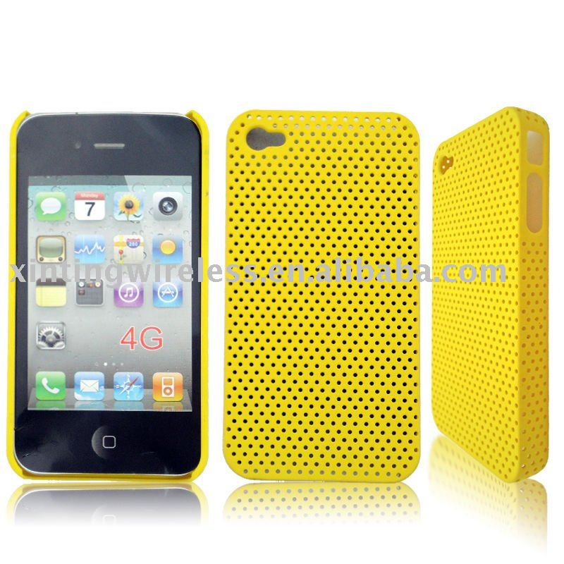 with hole design hard cases for iphon4