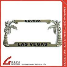 metal chrome car license plate frame,zinc alloy license plate frame blank number license frame