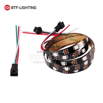 1m 30leds/m ws2812b led strip 5050smd Black pcb non-waterproof