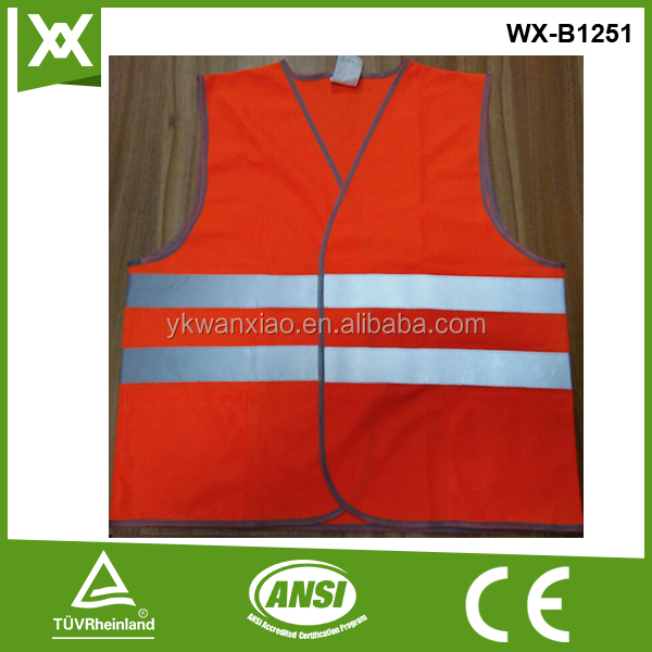 High visibility fabric for reflective running vest