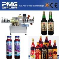Shrink wrap for wine bottle / sticky labeling machine