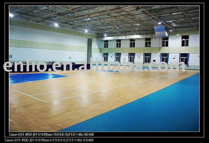 Wood Grain PVC Sports Surfaces