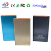 2015 Best Gift metal The thinnest polymer lithium battery mobile phone sky blue power bank 5000mah