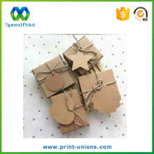 Gift tag decoration custom mini square craft paper soap box